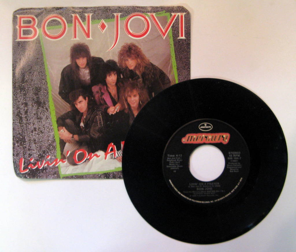 Bon Jovi Livin'+On+A+Prayer 7''