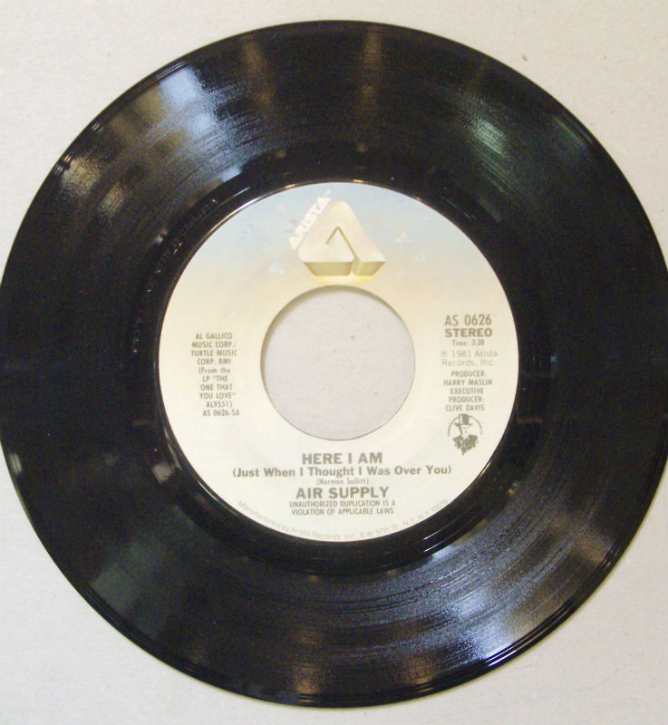Air Supply Here I Am 7''