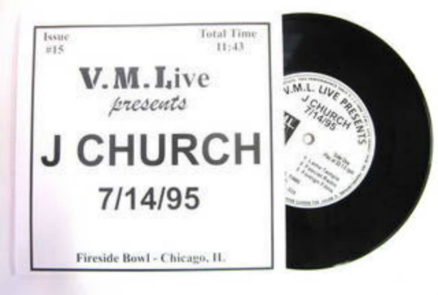 J Church - V.m.l. Live Presents: 7/14/95 Fireside Bowl, Chicago, Il
