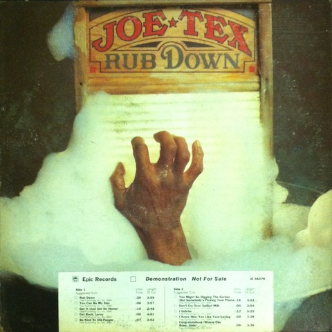 Joe Tex Rub+Down LP