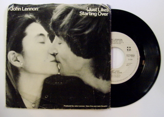 JOHN LENNON - (Just Like) Starting Over - 45T (SP 2 titres)