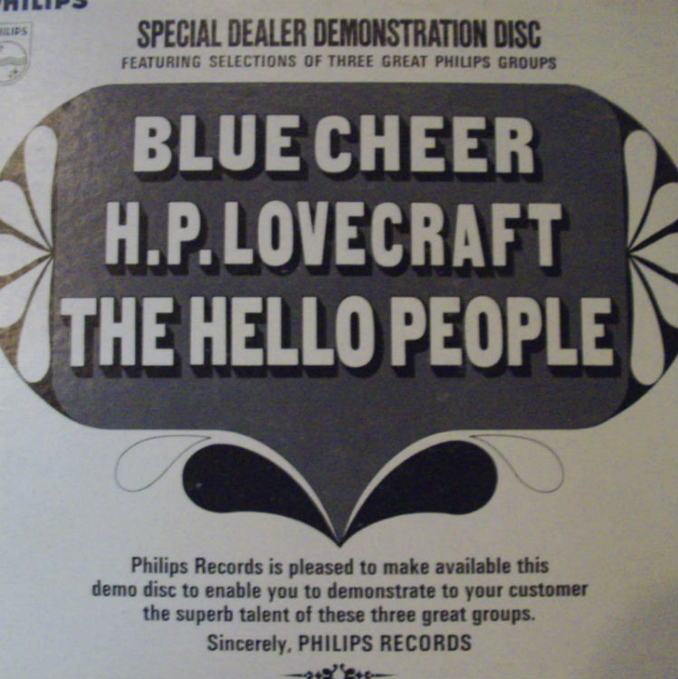 Philips Dealer Demonstration Record - Blue Cheer, H.p. Lovecraft, Hello People