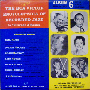 Earl Hines, Johnny Hodges, Billie Holiday, Harry Jame - Rca Victor Encyclopedia Of Recorded Jazz: Album 6 10&quot;