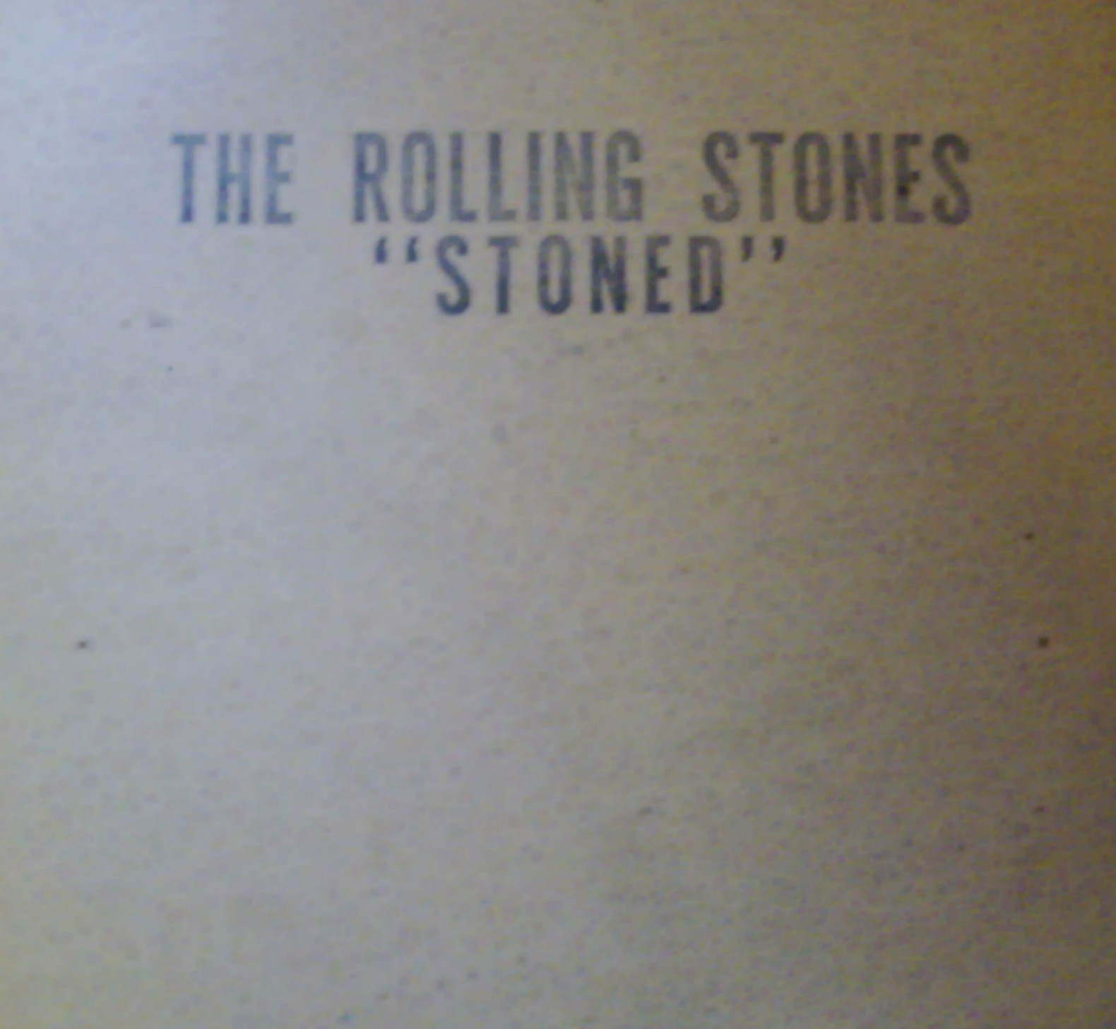 Stoned Again - Rolling Stones