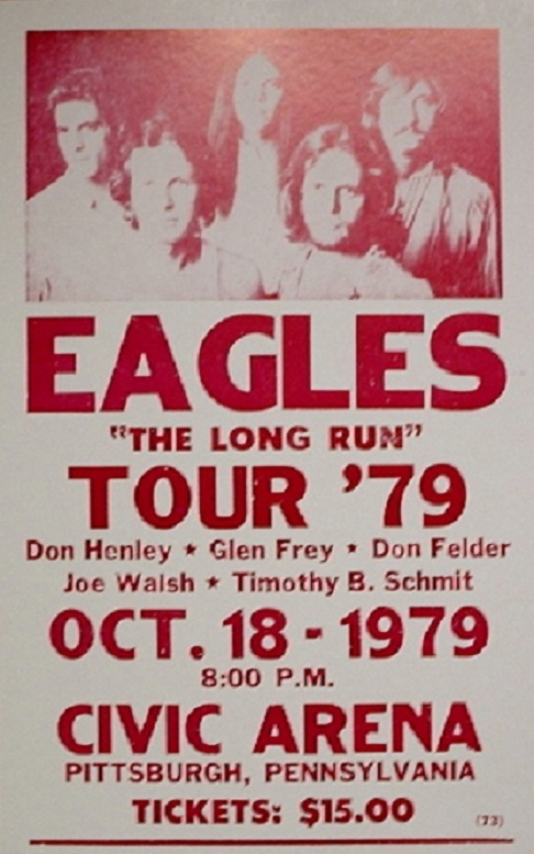 EAGLES - 1979 Tour Civic Arena - Poster / Display
