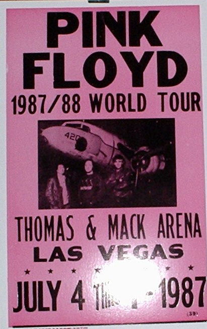 PINK FLOYD - 1987/88 World Tour - Poster / Display