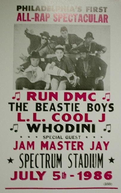 Run D M C Amp Beastie Boys All Rap Spectacular 1986