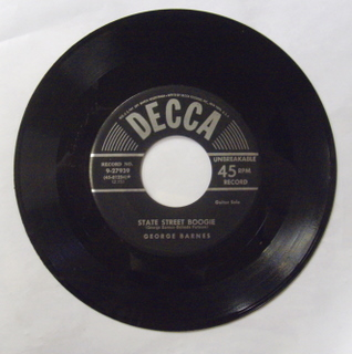 George Barnes - State Street Boogie - 45T SP 2 titres
